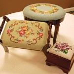 Anne Dorsey, Needlepoint Footstools