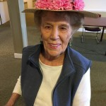 The ladies also made hats earlier that week to wear!