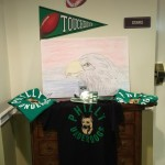 Under Dog raffle tea shirts and some Eagle art by Anna Catando.