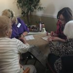 Janet from Compassus Hospice donated her time and helped with the manicures.