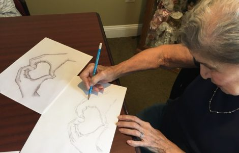 "Watermark University Class ""Sketching with Rose"" Inspires Curious Artists"